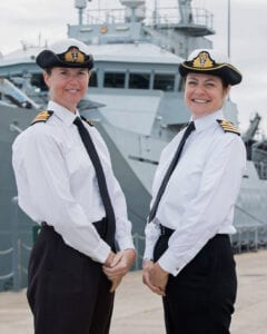 Commander Sarah Oakley and Lieutenant Commander Kate Scott lead the Fishery Protection Squadron